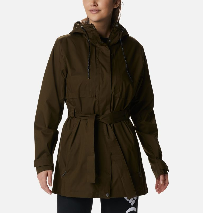Pardon My Trench™ Rain Jacket | 319 | XL Women's Pardon My Trench™ Rain Jacket, Olive Green, front
