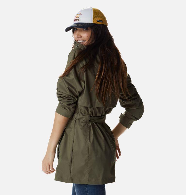 Pardon My Trench™ Rain Jacket   397   XL Women's Pardon My Trench™ Rain Jacket, Stone Green, back