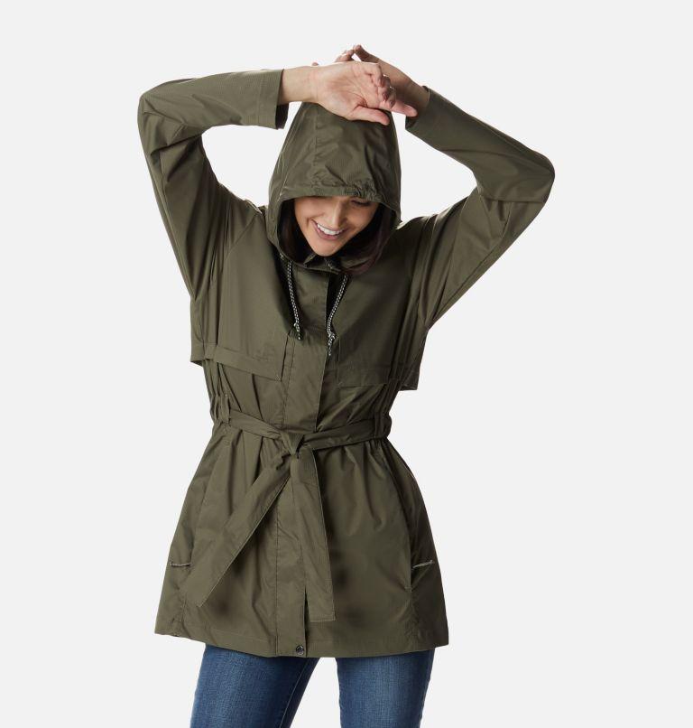 Pardon My Trench™ Rain Jacket   397   XL Women's Pardon My Trench™ Rain Jacket, Stone Green, front