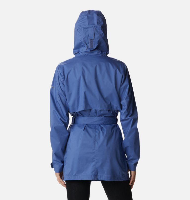 Pardon My Trench™ Rain Jacket | 458 | XL Women's Pardon My Trench™ Rain Jacket, Velvet Cove, back