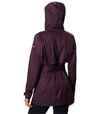 Women's Pardon My Trench™ Rain Jacket Pardon My Trench™ Rain Jacket | 458 | XS, Black Cherry, back