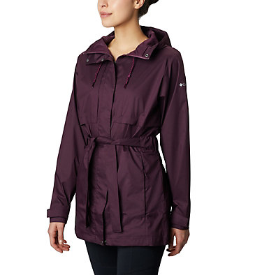Women's Pardon My Trench™ Rain Jacket Pardon My Trench™ Rain Jacket | 458 | XS, Black Cherry, front