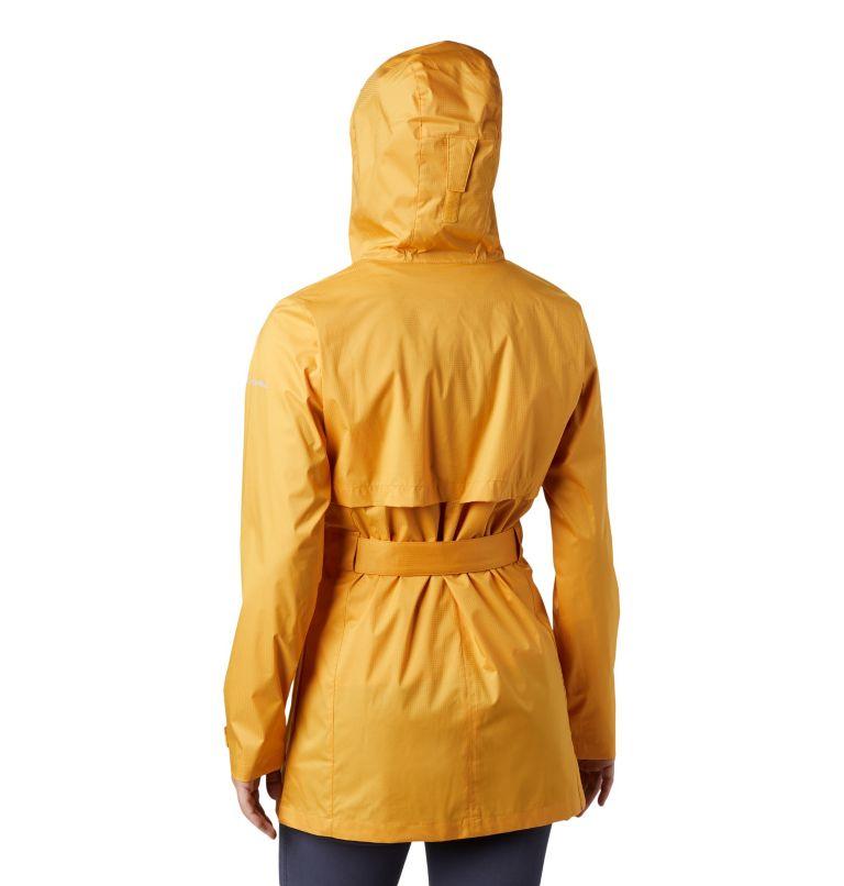 Pardon My Trench™ Rain Jacket | 756 | S Women's Pardon My Trench™ Rain Jacket, Raw Honey, back