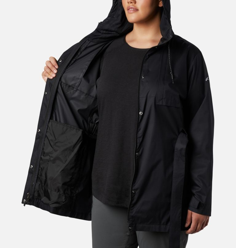 Pardon My Trench™ Rain Jacket | 010 | 1X Women's Pardon My Trench™ Rain Jacket – Plus Size, Black, a2