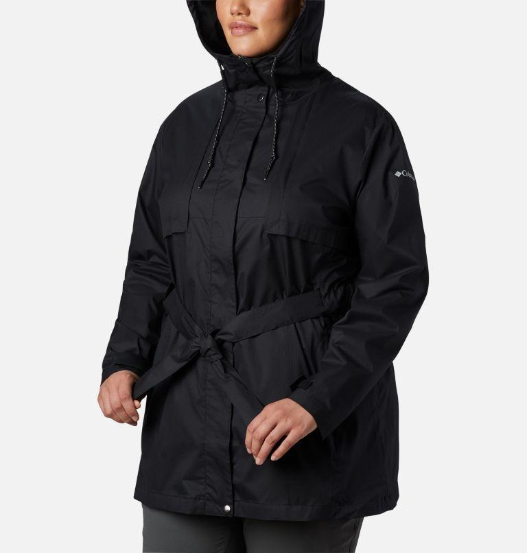 Pardon My Trench™ Rain Jacket | 010 | 1X Women's Pardon My Trench™ Rain Jacket – Plus Size, Black, a3