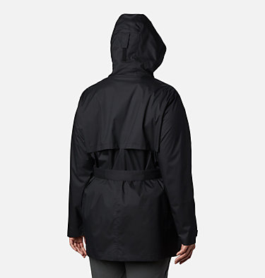 Women's Pardon My Trench™ Rain Jacket – Plus Size Pardon My Trench™ Rain Jacket | 458 | 3X, Black, back