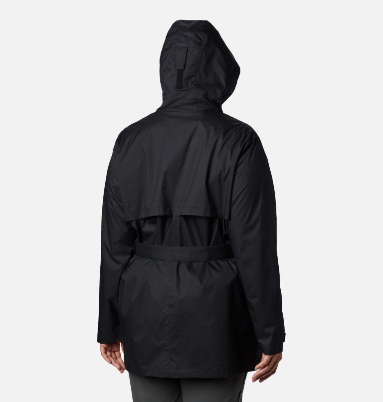 Pardon My Trench™ Rain Jacket | 010 | 1X Women's Pardon My Trench™ Rain Jacket – Plus Size, Black, back