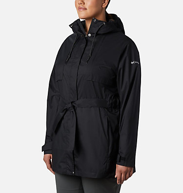Women's Pardon My Trench™ Rain Jacket – Plus Size Pardon My Trench™ Rain Jacket | 458 | 3X, Black, front