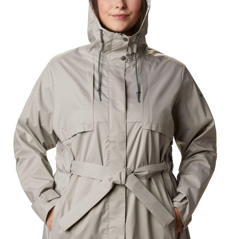 Pardon My Trench™ Rain Jacket | 027 | 1X Women's Pardon My Trench™ Rain Jacket – Plus Size, Flint Grey, a2