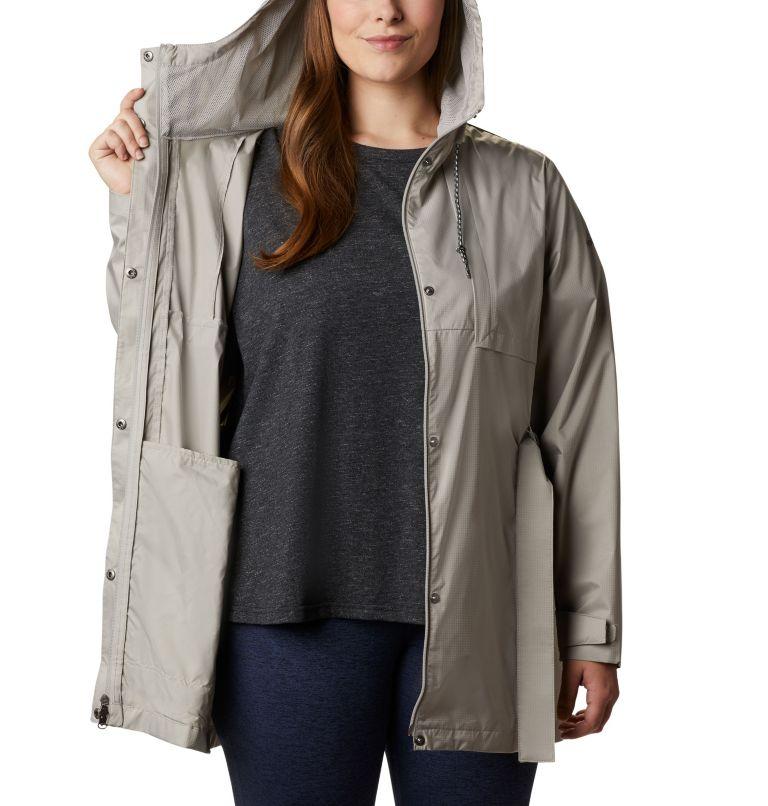 Pardon My Trench™ Rain Jacket | 027 | 1X Women's Pardon My Trench™ Rain Jacket – Plus Size, Flint Grey, a3