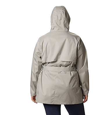 Women's Pardon My Trench™ Rain Jacket – Plus Size Pardon My Trench™ Rain Jacket | 458 | 3X, Flint Grey, back
