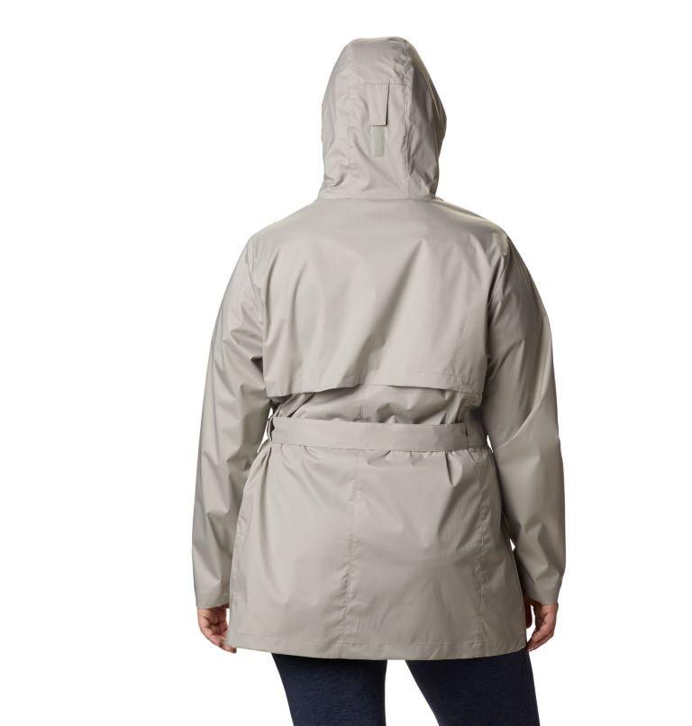 Pardon My Trench™ Rain Jacket | 027 | 1X Women's Pardon My Trench™ Rain Jacket – Plus Size, Flint Grey, back