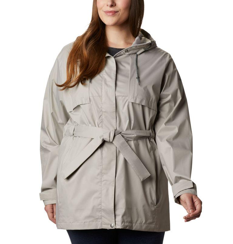 Pardon My Trench™ Rain Jacket | 027 | 1X Women's Pardon My Trench™ Rain Jacket – Plus Size, Flint Grey, front
