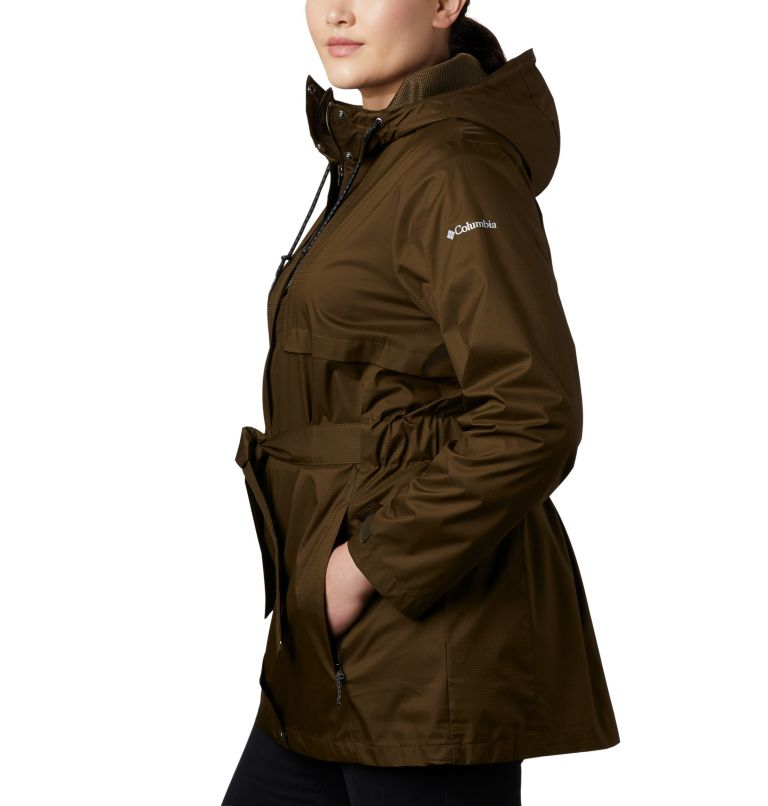 Pardon My Trench™ Rain Jacket | 319 | 3X Women's Pardon My Trench™ Rain Jacket – Plus Size, Olive Green, a1