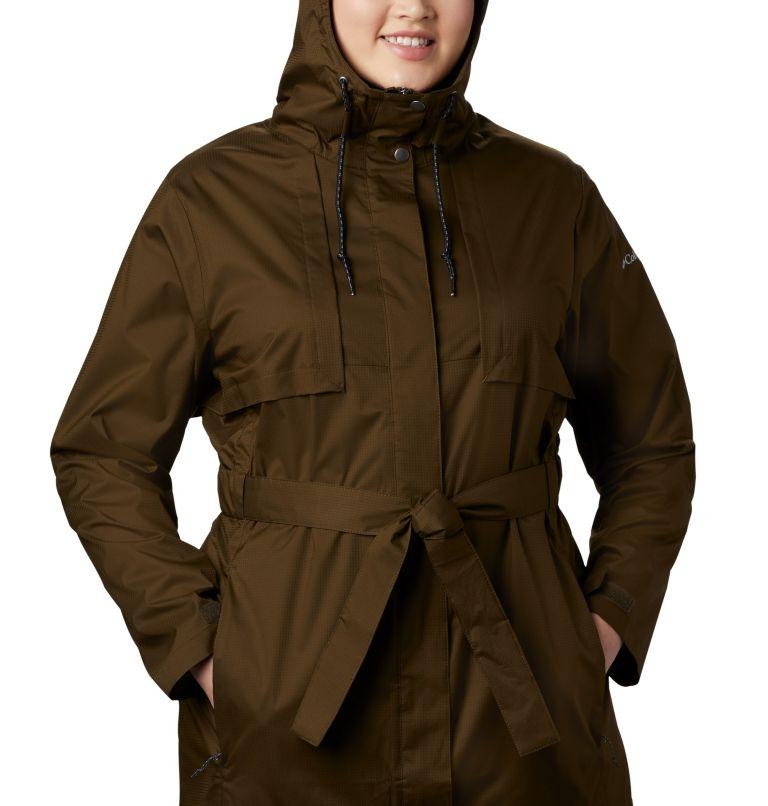 Pardon My Trench™ Rain Jacket | 319 | 3X Women's Pardon My Trench™ Rain Jacket – Plus Size, Olive Green, a2
