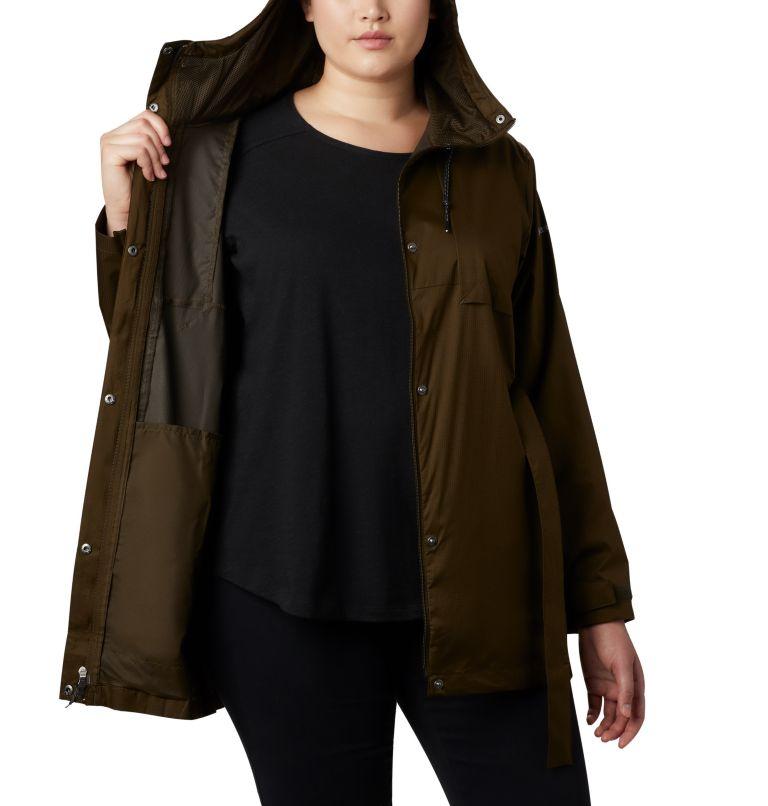 Pardon My Trench™ Rain Jacket | 319 | 3X Women's Pardon My Trench™ Rain Jacket – Plus Size, Olive Green, a3