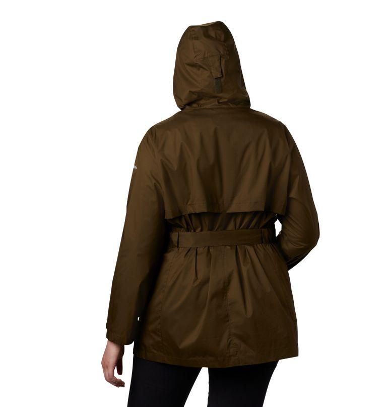 Pardon My Trench™ Rain Jacket | 319 | 3X Women's Pardon My Trench™ Rain Jacket – Plus Size, Olive Green, back