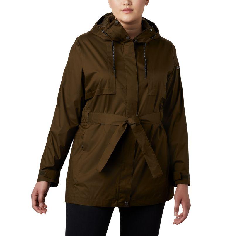 Pardon My Trench™ Rain Jacket | 319 | 3X Women's Pardon My Trench™ Rain Jacket – Plus Size, Olive Green, front
