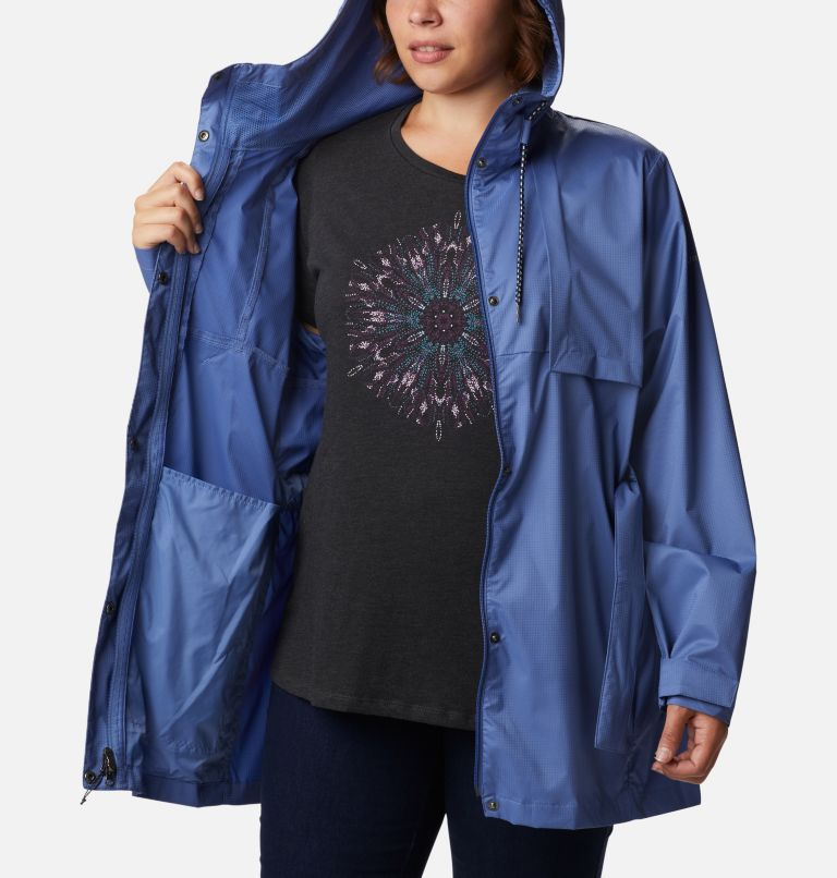 Pardon My Trench™ Rain Jacket | 458 | 3X Women's Pardon My Trench™ Rain Jacket – Plus Size, Velvet Cove, a3