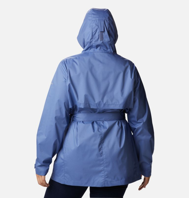 Pardon My Trench™ Rain Jacket | 458 | 3X Women's Pardon My Trench™ Rain Jacket – Plus Size, Velvet Cove, back