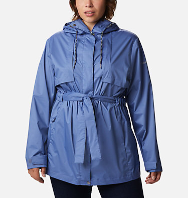Women's Pardon My Trench™ Rain Jacket – Plus Size Pardon My Trench™ Rain Jacket | 458 | 3X, Velvet Cove, front