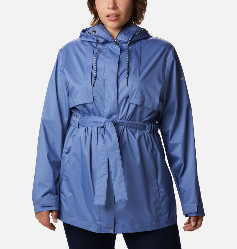 Pardon My Trench™ Rain Jacket | 458 | 3X Women's Pardon My Trench™ Rain Jacket – Plus Size, Velvet Cove, front