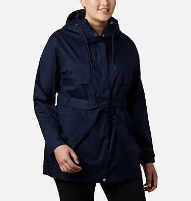 Women's Pardon My Trench™ Rain Jacket – Plus Size Pardon My Trench™ Rain Jacket | 458 | 3X, Dark Nocturnal, front