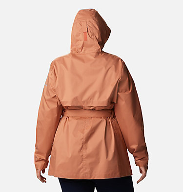 Women's Pardon My Trench™ Rain Jacket – Plus Size Pardon My Trench™ Rain Jacket | 458 | 3X, Nova Pink, back