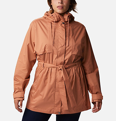 Women's Pardon My Trench™ Rain Jacket – Plus Size Pardon My Trench™ Rain Jacket | 458 | 3X, Nova Pink, front