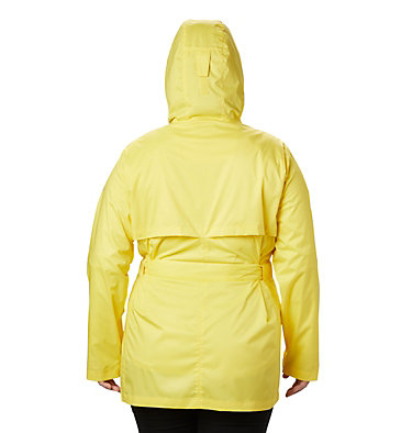 Women's Pardon My Trench™ Rain Jacket – Plus Size Pardon My Trench™ Rain Jacket | 458 | 3X, Buttercup, back