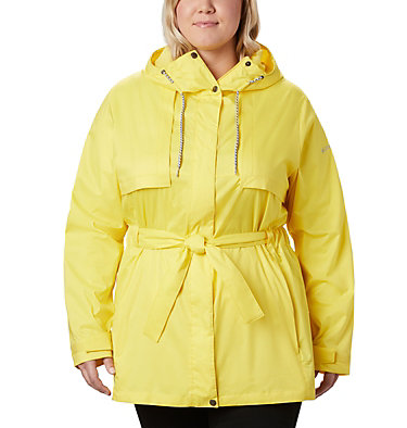 Women's Pardon My Trench™ Rain Jacket – Plus Size Pardon My Trench™ Rain Jacket | 458 | 3X, Buttercup, front