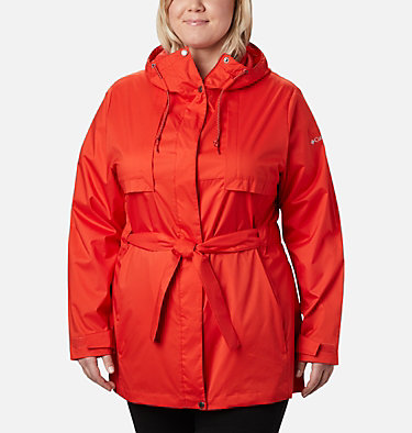 Women's Pardon My Trench™ Rain Jacket – Plus Size Pardon My Trench™ Rain Jacket | 458 | 3X, Bold Orange, front