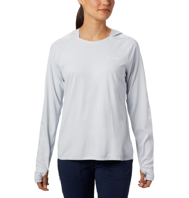 Tidal Deflector™ Hoodie | 031 | S Women's PFG Tidal Deflector™ Hoodie, Cirrus Grey, front