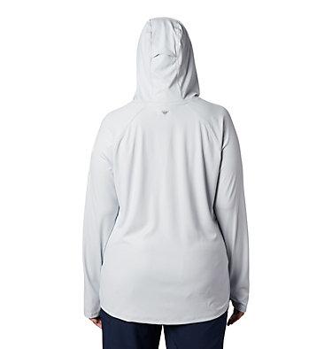 Women's PFG Tidal Deflector™ Hoodie - Plus Size Tidal Deflector™ Hoodie | 658 | 1X, Cirrus Grey, back