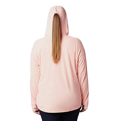 Women's PFG Tidal Deflector™ Hoodie - Plus Size Tidal Deflector™ Hoodie | 658 | 1X, Tiki Pink, back