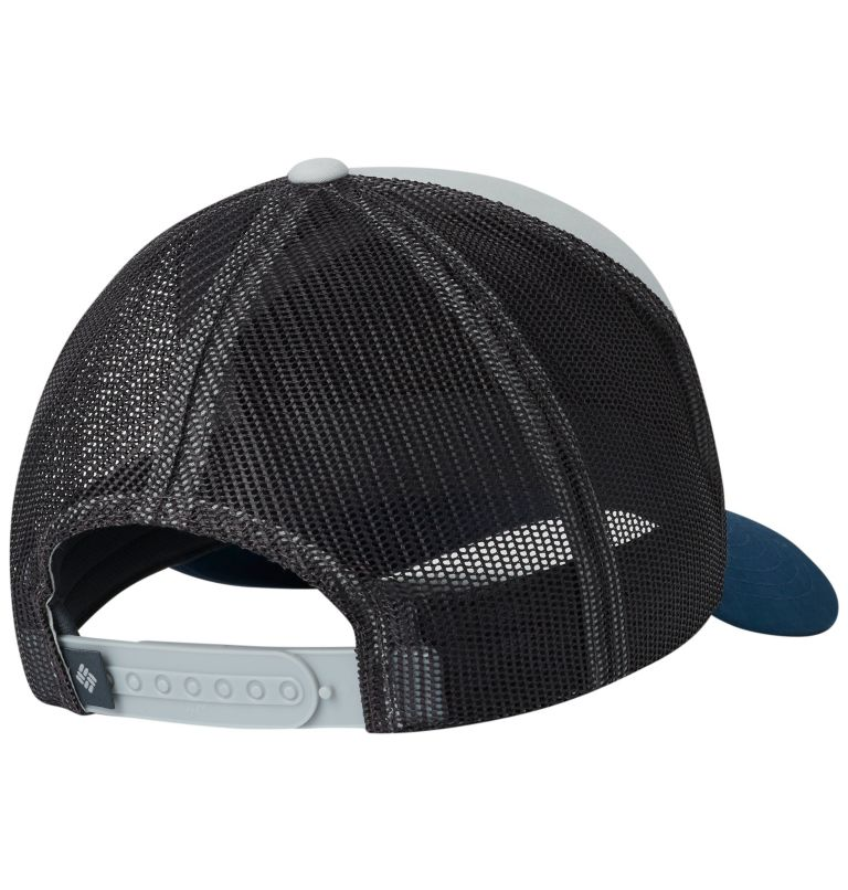 Trail Evolution™ II Snap Back  | 019 | O/S Trail Evolution™ II Snap Back Hat, Cool Grey, Petrol Blue Patch, back