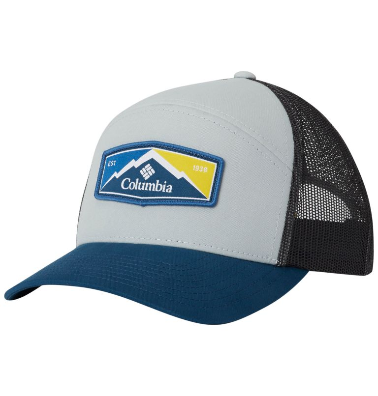 Trail Evolution™ II Snap Back  | 019 | O/S Trail Evolution™ II Snap Back Hat, Cool Grey, Petrol Blue Patch, front
