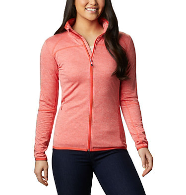 Women's Baker Valley™ Fleece Jacket Baker Valley™ Full Zip Fleece | 633 | M, Bright Poppy Heather, front