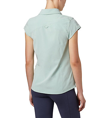 Women's Saturday Trail™ II Stretch Short Sleeve Shirt Saturday Trail™ II Stretch Pri | 404 | XS, New Mint End on End Grid, back