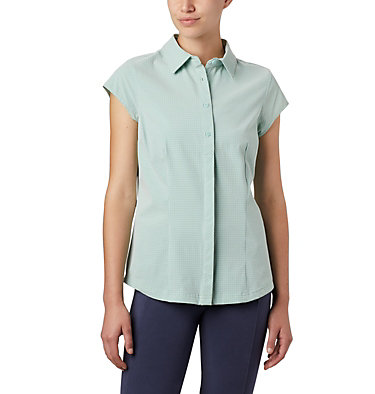 Women's Saturday Trail™ II Stretch Short Sleeve Shirt Saturday Trail™ II Stretch Pri | 404 | XS, New Mint End on End Grid, front