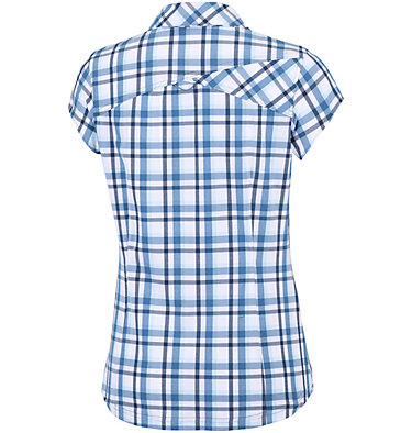 Women's Saturday Trail™ II Stretch Short Sleeve Shirt Saturday Trail™ II Stretch Pri | 404 | XS, Blue Dusk Plaid, back