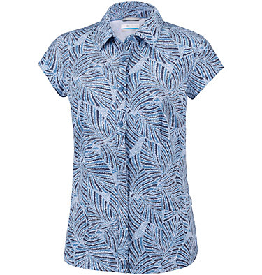 Women's Saturday Trail™ II Stretch Short Sleeve Shirt Saturday Trail™ II Stretch Pri | 404 | XS, Blue Dusk Print, front