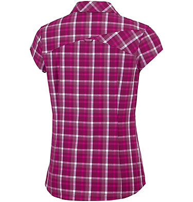 Women's Saturday Trail™ II Stretch Short Sleeve Shirt Saturday Trail™ II Stretch Pri | 404 | XS, Wine Berry Plaid, back