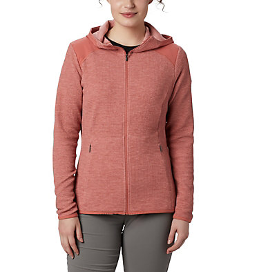 Fleece con cerniera Coggin Peak™ da donna Coggin Peak™ FZ Hooded Fleece | 467 | L, Dark Coral, front