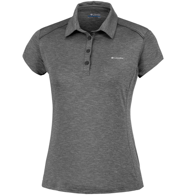 Firwood Camp™ Polo | 010 | L Polo Firwood Camp™ Femme, Black Heather, front
