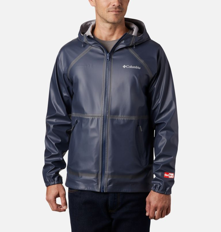 OutDry Ex™ Reversible II Jacket | 464 | S Men's OutDry™ Ex Reversible II Jacket, Collegiate Navy, Columbia Grey Heather, front