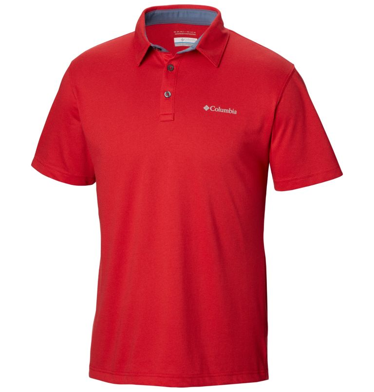 Thistletown Ridge™ Polo | 613 | S Men's Thistletown Ridge™ Polo, Mountain Red, front