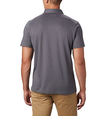 Men's Thistletown Ridge™ Polo—Tall Thistletown Ridge™ Polo | 023 | LT, City Grey, Shark, back