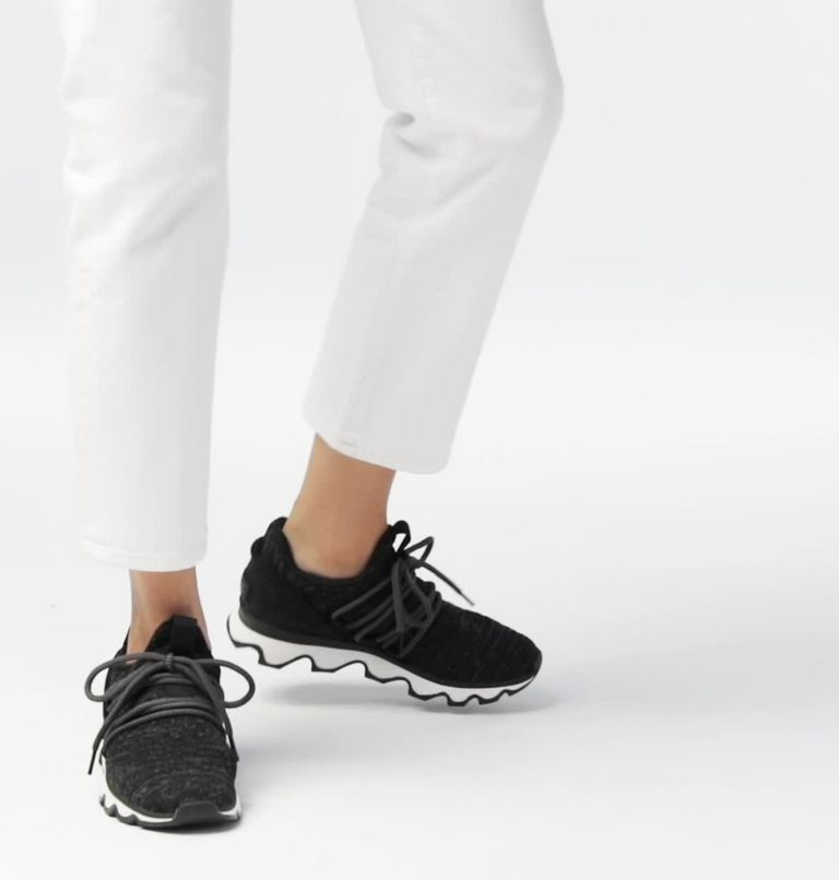 KINETIC™ LACE | 011 | 6 Women's Kinetic™ Lace Sneaker, Black, video