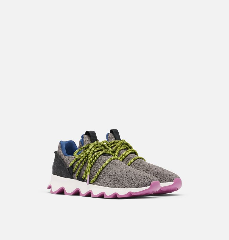 KINETIC™ LACE | 052 | 5 Women's Kinetic™ Lace Sneaker, Quarry, 3/4 front